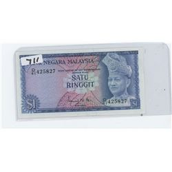 BANK OF MALAYSIA ONE DOLLAR BANK NOTE