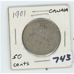 1901- CANADIAN FIFTY CENTS