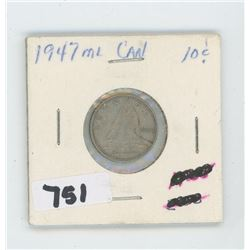 1947- CANADIAN TEN CENTS