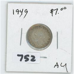 1949- CANADIAN TEN CENTS