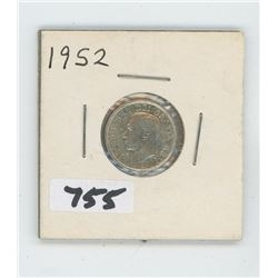 1952- CANADIAN TEN CENTS