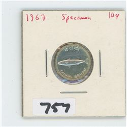 1967- CANADIAN TEN CENTS SPECIMEN