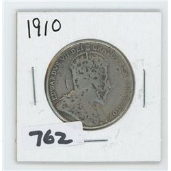 1910 CANADIAN 50 CENTS