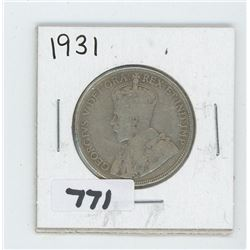 1931 CANADIAN 50 CENTS