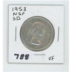 1953 NSF SD CANADIAN 50 CENTS