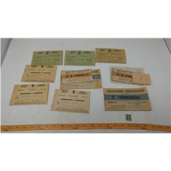 LOT OF RATION BOOKS AND OLD STAMPS