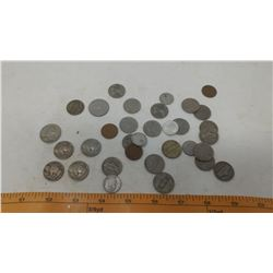 LOT OF AMERICAN COINS AND 4 BUFFALO NICKELS