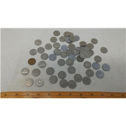 OVER 50 NICKELS (1920'S -1980'S, SOME 1927-28)