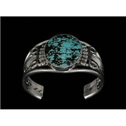 Navajo Silver and Spider Web Turquoise