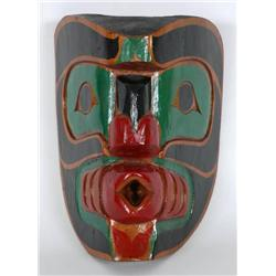 Kwakiutl Carved Wind Mask Signed L. Jac