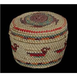 Nuu-chah-nulth Lidded Basket with Duck