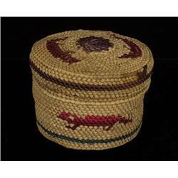 Nuu-chah-nulth Lidded Basket with Otter