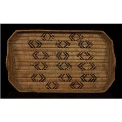 "Salish Eight Sided Handled Tray 19"" L."
