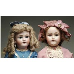 LOT OF TWO GERMAN BISQUE HEAD DOLLS