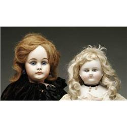 LOT OF TWO GERMAN BISQUE DOLLS AND ONE DOLL HEAD