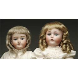 LOT OF TWO GERMAN BISQUE HEAD CHILD DOLLS