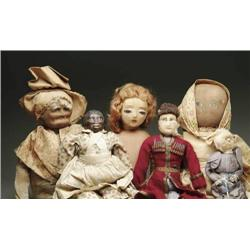 LOT OF 7 DOLLS, PRIMARILY CLOTH