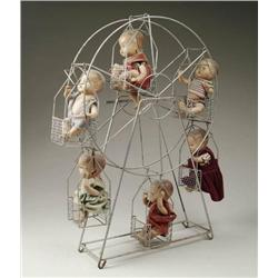 METAL FERRIS WHEEL WITH 6 COMPOSITION BABIES