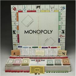 RARE MONOPOLY GAME COPYRIGHTED 1933 BY CHAS. B. D