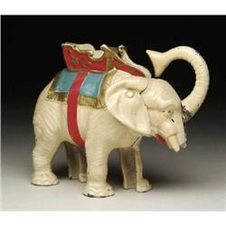 HUBLEY ELEPHANT & HOWDAH MECHANICAL BANK