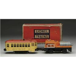 """LOT OF 2 LIONEL """"O"""" GAUGE #60 TROLLEY AND  # 3927"""