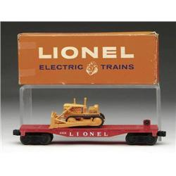 LIONEL #6816 FLAT CAR WITH ALLIS-CHALMERS BULLDOZ