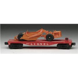 LIONEL #6817 FLAT CAR WITH ALLIS-CHALMERS EARTH M