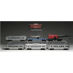 """LOT OF 7 LIONEL """"O"""" GAUGE PASSENGER AND FREIGHT C"""