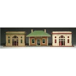 LOT OF 3 LIONEL TRAIN STATIONS