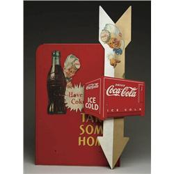 LOT OF TWO COCA-COLA SIGNS