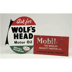 LOT OF TWO MOTOR OIL SIGNS