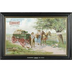 HICKMAN-EBBERT WAGON CO. TIN SIGN