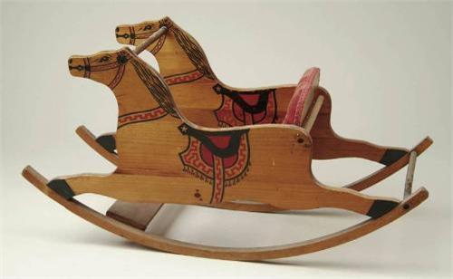 WOODEN SHOO-FLY ROCKING HORSE