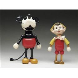 COMPOSITION MICKEY MOUSE AND IDEAL PINOCCHIO