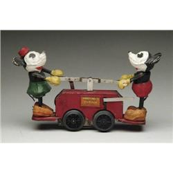 LIONEL MICKEY MOUSE AND MINNIE HANDCAR