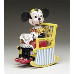 WIND-UP KNITTING MINNIE MOUSE BY LINEMAR