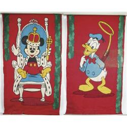 TWO LARGE DISNEY BANNERS