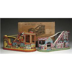 LOT OF 2 LITHOGRAPHED CHEIN ROLLER COASTERS ONE I