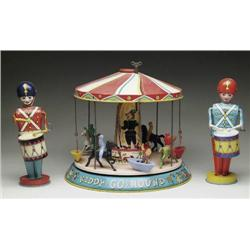 LOT OF 2 CHEIN DRUMMERS WITH A KIDDY GO ROUND BY