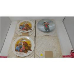 FOUR COLLECTOR PLATES - 1 WINTER ANGEL UNOPENED