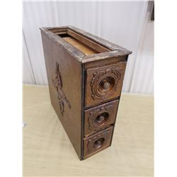 Antique sewing machine drawers, ornate #1