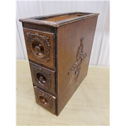 Antique sewing machine drawers, ornate #2