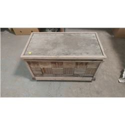 """WOODEN TRUNK ON CASTERS 30W X 16D X 19H"""""""
