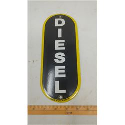 SERVICE STATION DIESEL PORCELAIN SIGN