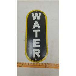 SERVICE STATION WATER PORCELAIN SIGN