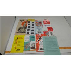 ASSORTED PAPERS & SLIDES