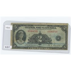 1935 BANK OF CANADA $2.00
