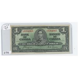 1937 BANK OF CANADA $1.00