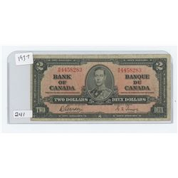 1937 BANK OF CANADA $2.00