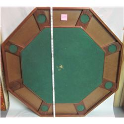 felt top octagon wooden poker table & cover